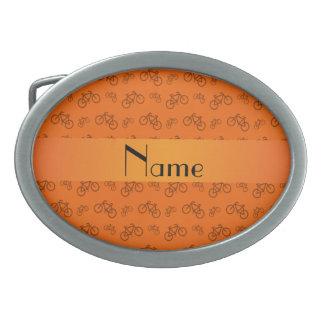 Modelo anaranjado conocido personalizado de la bic hebillas cinturón ovales