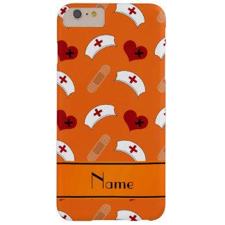 Modelo anaranjado conocido personalizado de la funda de iPhone 6 plus barely there