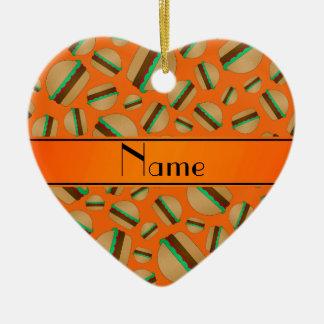 Modelo anaranjado conocido personalizado de la ham ornamentos para reyes magos