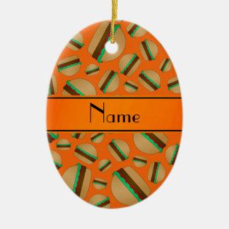 Modelo anaranjado conocido personalizado de la ham ornamento de reyes magos