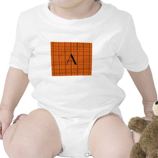 Modelo anaranjado conocido personalizado de la traje de bebé