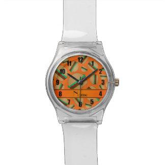 Modelo anaranjado conocido personalizado de la reloj