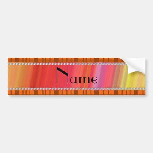 Modelo anaranjado conocido personalizado de la tel etiqueta de parachoque