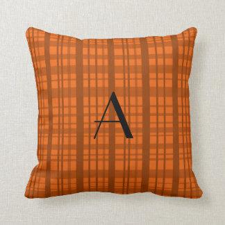 Modelo anaranjado conocido personalizado de la tel almohadas