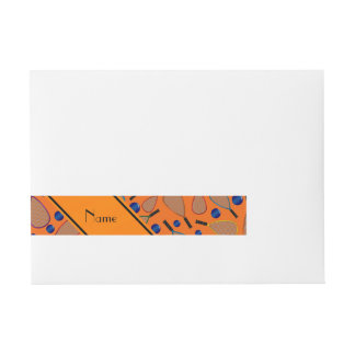 Modelo anaranjado conocido personalizado de las etiquetas envolventes de dirección