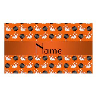 Modelo anaranjado conocido personalizado de los bo tarjeta de visita