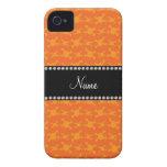 Modelo anaranjado conocido personalizado de los iPhone 4 Case-Mate protector