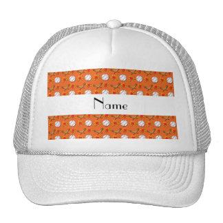 Modelo anaranjado conocido personalizado del béisb gorros bordados