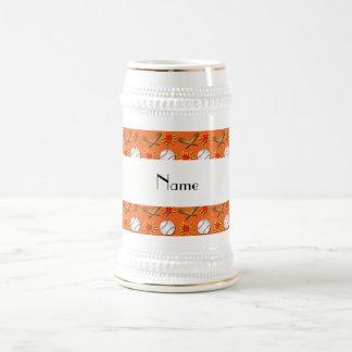 Modelo anaranjado conocido personalizado del béisb jarra de cerveza