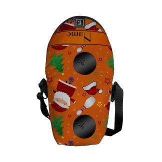 Modelo anaranjado conocido personalizado del bolsa de mensajeria