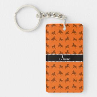 Modelo anaranjado conocido personalizado del cabal llaveros