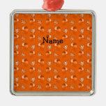 Modelo anaranjado conocido personalizado del cumpl ornamento de navidad