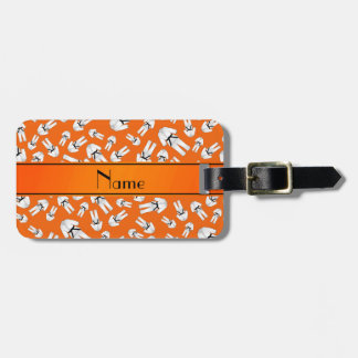 Modelo anaranjado conocido personalizado del etiqueta de equipaje