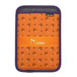 Modelo anaranjado conocido personalizado del helad funda iPad mini