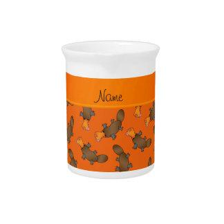 Modelo anaranjado conocido personalizado del jarron
