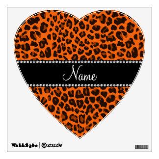 Modelo anaranjado conocido personalizado del leopa