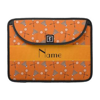 Modelo anaranjado conocido personalizado del fundas para macbooks