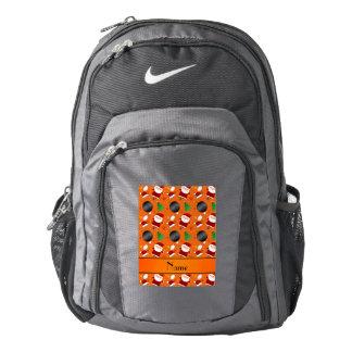 Modelo anaranjado conocido personalizado del mochila
