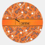 Modelo anaranjado conocido personalizado del pegatinas redondas