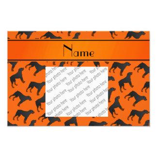 Modelo anaranjado conocido personalizado del perro fotografía