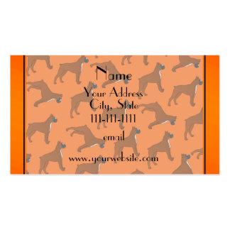 Modelo anaranjado conocido personalizado del perro tarjetas de visita