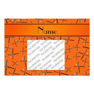 Modelo anaranjado conocido personalizado del arte fotografico