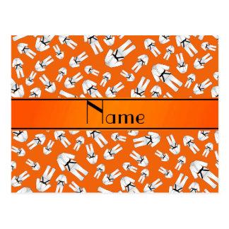 Modelo anaranjado conocido personalizado del tarjeta postal