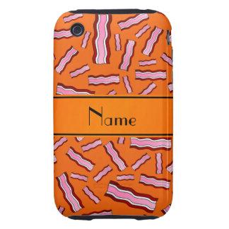 Modelo anaranjado conocido personalizado del tocin tough iPhone 3 funda