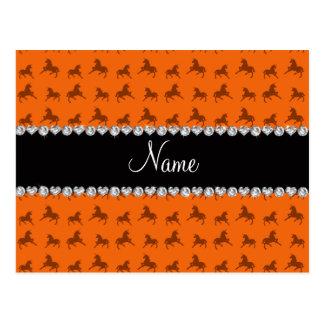 Modelo anaranjado conocido personalizado del unico tarjetas postales