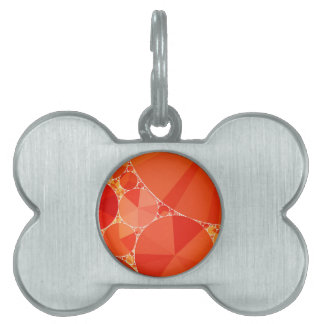 Modelo anaranjado de Bling Placas Mascota