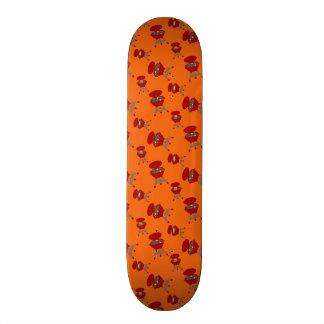 Modelo anaranjado de la barbacoa skateboards