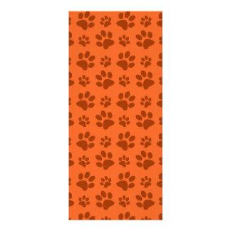 Modelo anaranjado de la impresión de la pata del p diseños de tarjetas publicitarias