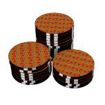 Modelo anaranjado de la magdalena juego de fichas de póquer