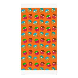 Modelo anaranjado de la magdalena tarjetas personales