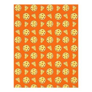 Modelo anaranjado de la pizza plantilla de membrete