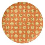Modelo anaranjado de la pizza plato de comida