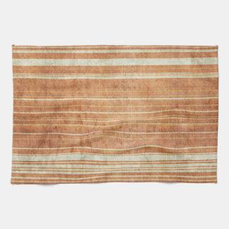 Modelo anaranjado de la raya del moho sucio toalla de cocina
