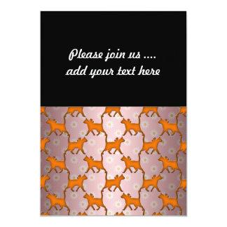 "Modelo anaranjado de la silueta del gato invitación 5"" x 7"""