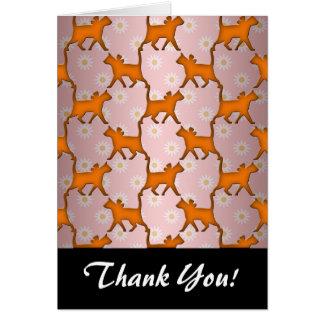 Modelo anaranjado de la silueta del gato tarjeta pequeña