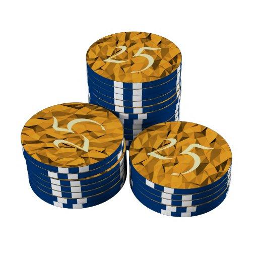 Modelo anaranjado de la textura fichas de póquer