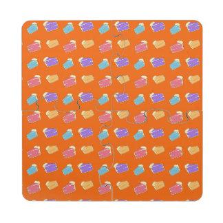Modelo anaranjado de la torta