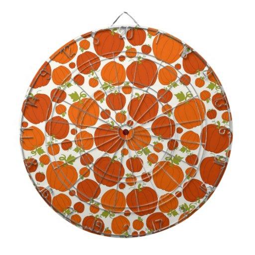 Modelo anaranjado de las calabazas del otoño de la tablero dardos