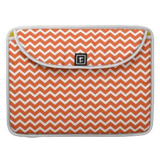 Modelo anaranjado de los galones del zigzag de la funda para macbooks