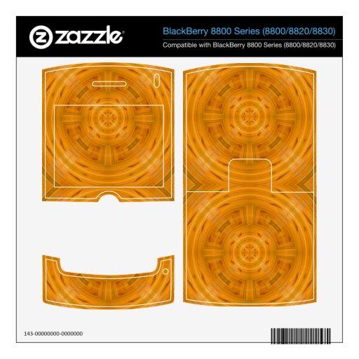 Modelo anaranjado de moda del círculo BlackBerry calcomanías