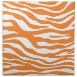 Modelo anaranjado de moda del estampado de zebra servilletas imprimidas