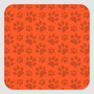 Modelo anaranjado de neón de la impresión de la colcomanias cuadradas