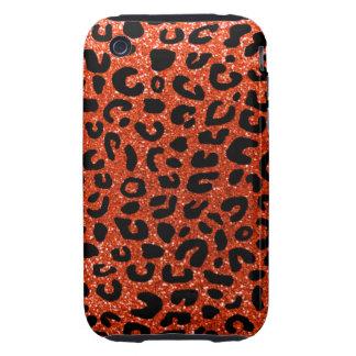 Modelo anaranjado de neón de la impresión del guep tough iPhone 3 cobertura