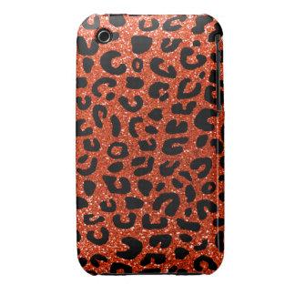 Modelo anaranjado de neón de la impresión del guep iPhone 3 Case-Mate funda