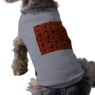 Modelo anaranjado de neón del brillo de la gimnasi playera sin mangas para perro