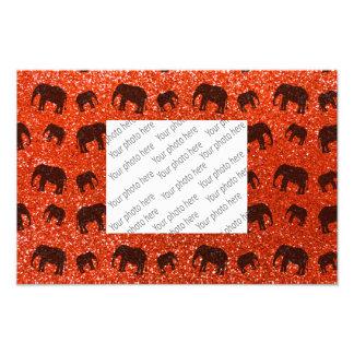 Modelo anaranjado de neón del brillo del elefante cojinete